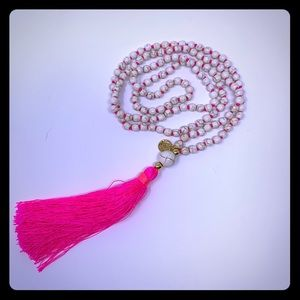 NWOT Lilly Pulitzer long pink tassel necklace!